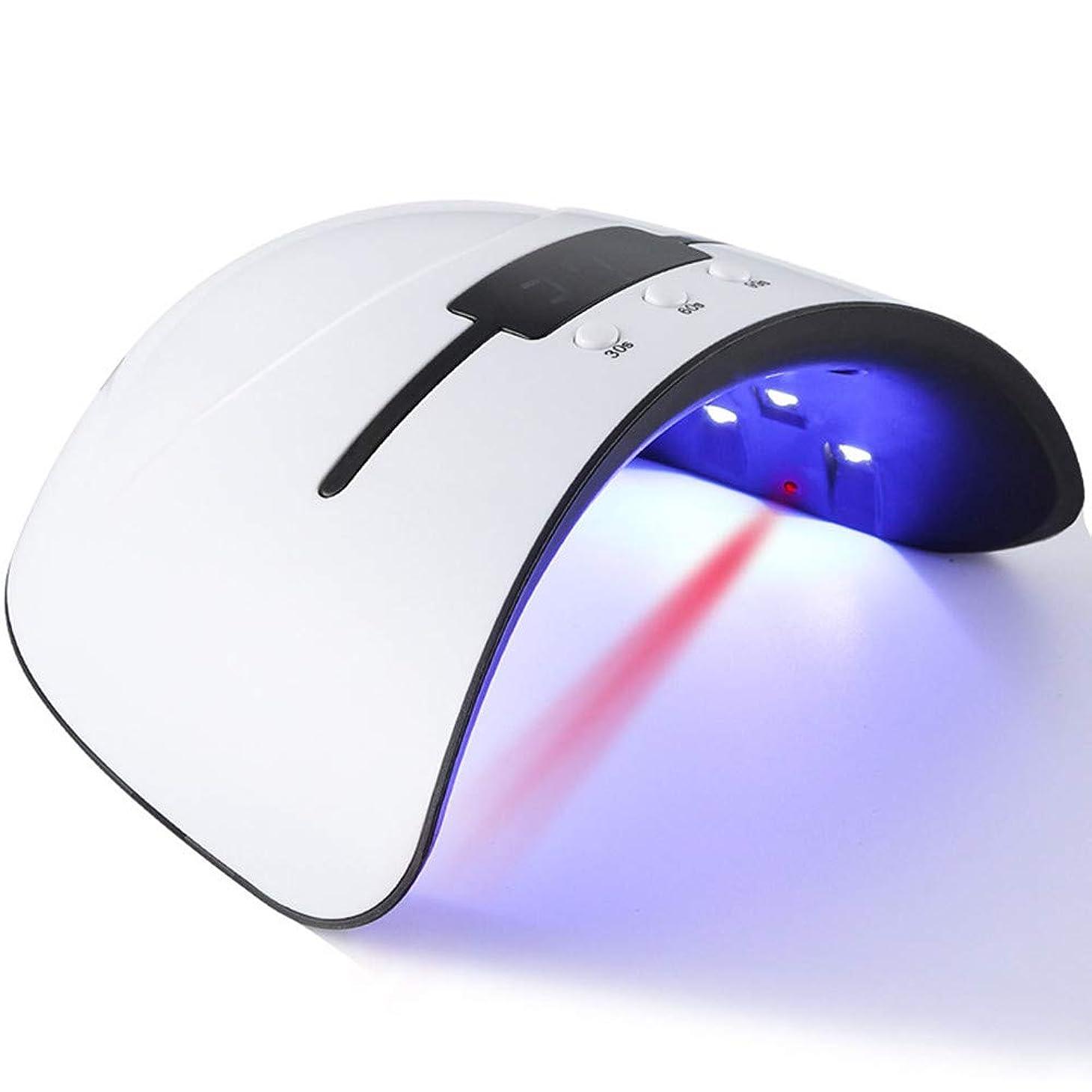 コマース状況伝記硬化ライト ネイルlight ジェルネイル LED ネイルドライヤー 日本語説明書付属 36W 無痛硬化 赤外線検知