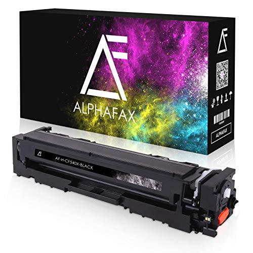 Alphafax Toner kompatibel mit HP CF-540X für Color Laserjet Pro M281fdw M-280nw M-281fdn M254nw M254dw - 203X Schwarz 3.200 Seiten