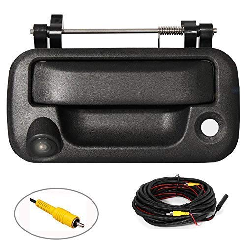 RED WOLF Tailgate Handle with Rear View Backup Camera for 2004-2014 Ford F-150 F150 / 2008-2016 F-250 F-350 Replacement Reverse Parking Camera Removable Guideline Pickup Trucks Clear View backup Cameras Vehicle