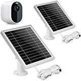 UYODM 2 Pack Solar Panel for Arlo Essential Spotlight   Weather Resistant, 16.5Ft Outdoor Power Charging Cable, Adjustable Mount   Not for Arlo HD Pro Pro2 Pro3- Silver