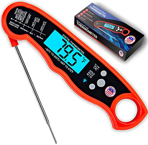 Meat Thermometer for Cooking, Grilling, Smoking – Boucher Daniel's BBQ, Milk, Oil, Yogurt, Meat, Candy and Food Thermometer. Instant Read Waterproof Digital Thermometer for Kitchen & Outdoor Cooking