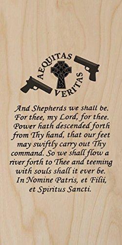 Hat Shark Plywood Wood Print Poster Wall Art - The Family Prayer Aequitas Veritas Saints Gun Celtic Cross