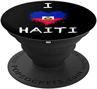 I love Haiti Heart - PopSockets Grip and Stand for Phones and Tablets