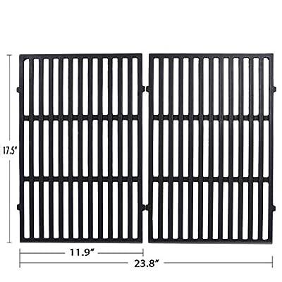 JEASOM Grills Grid Grates 7638 for Weber Spirit 300 Series, Spirit 700 Genesis Silver Gold B/C, Genesis Platinum B/C,Porcelain Steel Cooking Grates Replacement (17.5 x 11.9 x 0.5, Set of 2