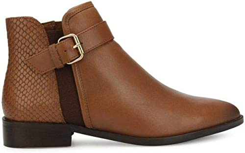 Woherren Date 2 Nite Flat Ankle Stiefelie with Buckle Detail Stiefel, tan, 9 M US