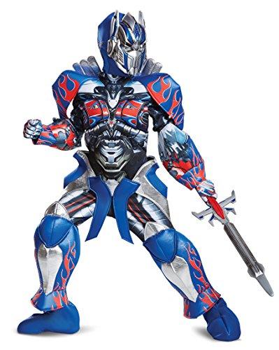 Disguise Optimus Prime Movie Prestige Costume, Blue, Medium (7-8)