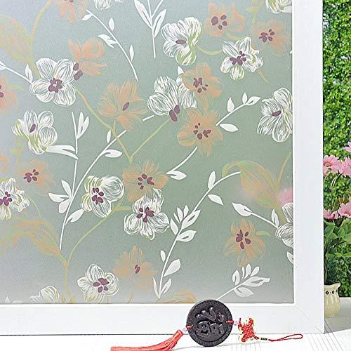 Emmala raamfolie voor ramen, zelfklevend, zelfklevend, voor badkamer of slaapkamer, 75 x 200 cm, 30 x 79 cm