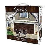 Giani Wood Look Garage Door Paint Kit, 2 Car, Black Walnut