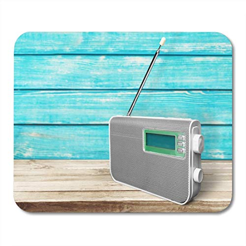 Muis Pads Klok Draagbare Radio Luisteren Muziek Antenne Audio Broadcasting Communicaties