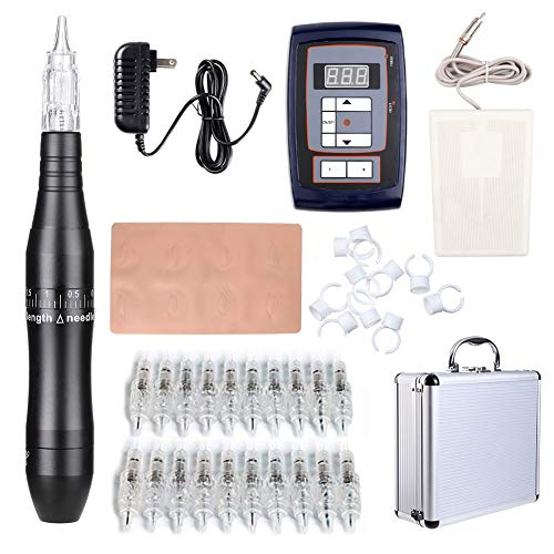 Tattoo Maschine Set Komplett Profi Rotary Tattoos Gun Werkzeug Leise Eu Deutschland Billig (Black)