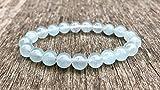 Celestine Bracelet Handmade 8mm Semitransparent Blue Celestite Beaded Gemstone Bracelet Gift Bracelet Stack Bracelet Unisex Bracelet