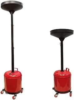 Portable 5 Gallon Telescopic Oil Drain Dolly Oil Lift Drain Tank 67'' Lift Cap.