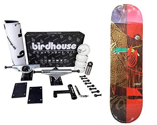 Skateboard Komplett Magenta zum Zusammenbauen, hohe Qualität, Set Up und Board 8.0'