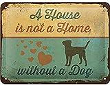 Nostalgic-Art Retro Blechschild PfotenSchild – A House is