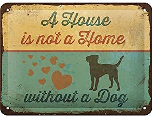 Nostalgic-Art Retro Blechschild PfotenSchild – A House is not a Home – Geschenk-Idee für Hunde-Besitzer, aus Metall, Vintage-Dekoration, 15 x 20 cm