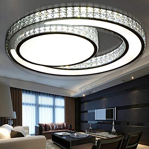 Moderne LED plafondlampen acryl woonkamer slaapkamer kristal plafondlamp Lamparas De Techo lampen verlichting lamp @ zwart diameter 320 m warmwit