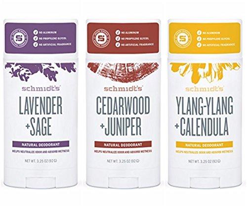 Schmidts Schmidt's deodorant stick variety pack (lavender & sage, cedarwood & juniper, ylang-ylang & calendula)