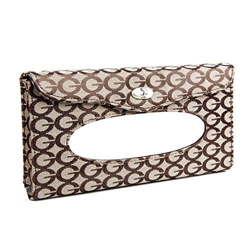 HOME tissu boîte Mode toile automobile tissu visière pompage bac portefeuille café noir