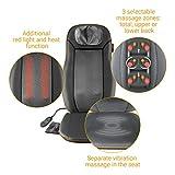 Medisana MCN Shiatsu Massageauflage, Massagesitzauflage mit 3 Massagezonen, Wärmefunktion, Rotlichtfunktion, Nackenmassage, für jeden Stuhl geeignet mit Fernbedienung - 9