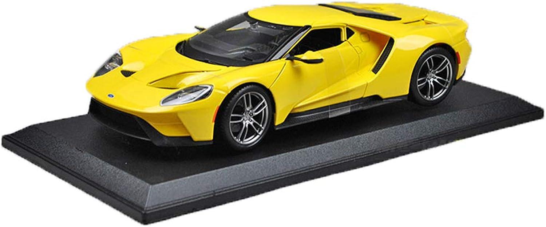 mejor precio GAOQUN-TOY 1 18 Ford GT Concept Coche Sports Coche 2017 2017 2017 Alloy Simulation Coche Model (Color   Amarillo, Tamaño   26.4cm12.5cm6cm)  Venta en línea precio bajo descuento
