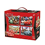 King Disney 4in1 Cars 2 Puzzle - Rompecabezas (Puzzle Rompecabezas, Dibujos, Niños, Disney, Cars, Niño)