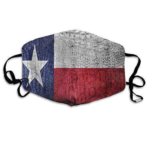 Texas State Bandera pintada sobre piel de cocodrilo, textura de piel de serpiente, emblema patriótico, nueva moda resistente al sol, bandana para la cabeza