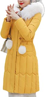Womens Winter Coat Thicken Hoodie Down Jacket Plus Size Long Overcoat