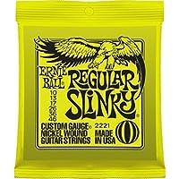 CUERDAS GUITARRA ELECTRICA - Ernie Ball (2221) Slinky Regular/Color Amarillo (Juego Completo 010/046E)