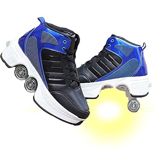 JZIYH Zapatos Sneakers Ajustable Rueda Roller Automática De Skate Zapatillas Skate para Niños Niñas Zapatos Patines Deportes Running Shoes para Principiantes