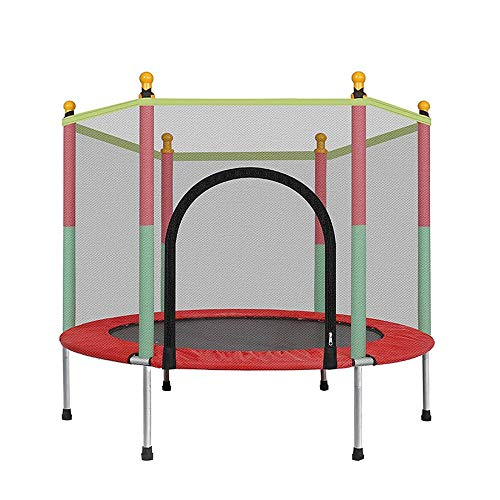 SXDE Trampolín de Juguete pequeño para Interiores y Exteriores,Mini trampolín para niños, trampolín de jardín con Red de Seguridad - Cubierta Impermeable de PVC