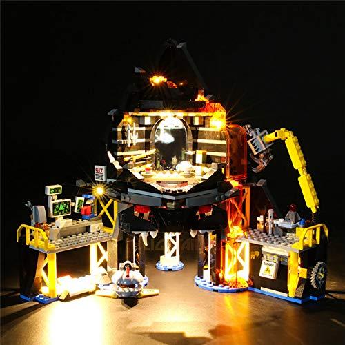 Kit de iluminación para Lego 70631, Juego de Luces LED USB Compatible con el Modelo de Bloques de construcción Volcano Lair de Ninjago Movie Garmadon (no Incluido el Modelo)
