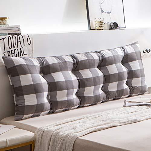 HAOLY Rückenlehnenkeil,kopfteil Bett Kissen,großes Dreieckiges Kissen,kopfteil Für Betten,Sofa Rückenpolster-e 120x15x50cm(47x6x20inch)