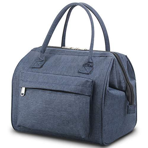 Soundance, borsa termica per il pranzo per donne e uomini, grande capacità, a prova di perdite, per ufficio, lavoro, picnic all'aperto, colore blu