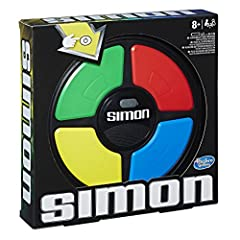 Classic Simon gameplay. Follow lights and sounds. Suspense builds as sequences get longer. Play solo or challenge a friend. Includes Simon game unit and instructions. For ages 8 and up.