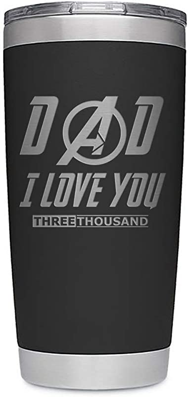 Father S Day Gift Tumbler Dad I Love You 3000 12 Oz Stainless Steel Double Wall Vacuum Insulated Tumbler Black 20 Oz