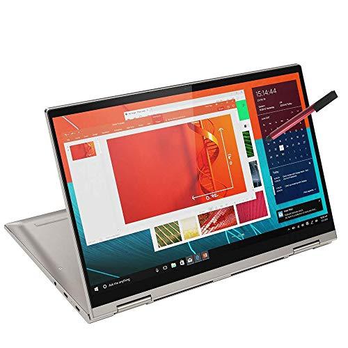 2020 Lenovo Yoga C740 2-in-1 14' FHD Touchscreen Laptop Computer, Intel Quad-Core i5-10210U (Beats i7-7500U), 8GB DDR4 RAM, 256GB PCIe SSD, Windows 10, BROAGE 64GB Flash Stylus, Online Class Ready