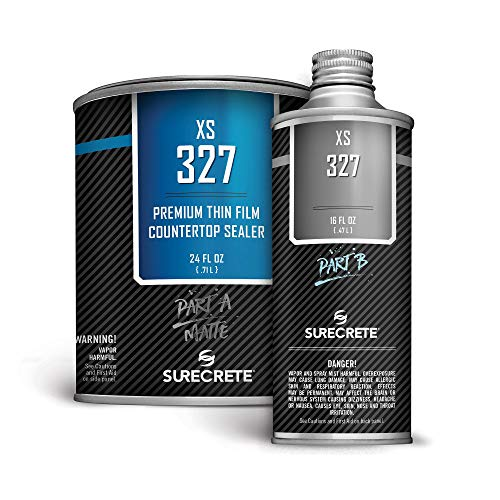 Concrete Countertop Sealer Matte Finish Food Safe Water Based (100 ft²) 1 Quart Kit XS-327