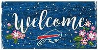 Fan Creations NFLバッファロービルズ ユニセックス バッファロービルズ ウェルカムフローラルサイン チームカラー 6 x 12インチ