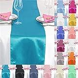 time to Sparkle 10X Satén Caminos de Mesa 30cmx275cm Satén Corredor de Tabla Cinta de Mesa Boda-Turquoise