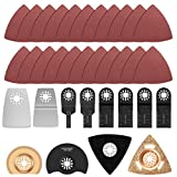 34Pcs Oscillating Multi Tool Accessories Kit, High Carbon Steel <span class='highlight'>Universal</span> Quick Release Mix <span class='highlight'>Saw</span> <span class='highlight'>Blades</span> Wood Cutting <span class='highlight'>Saw</span> Blade for Wood, Plastic, Metal and Hard Material Cutting, Sanding, Grinding