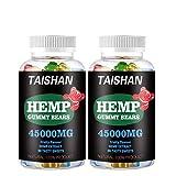 Hemp Gummies 2 Pack 100% Natural Hemp Oil Infused Gummies for Anxiety, Stress Relief - Tasty & Relaxing Herbal Gummies - Mood & Immune Support - Omega 3-6-9 Complex(45000MG | 90 Gummies)