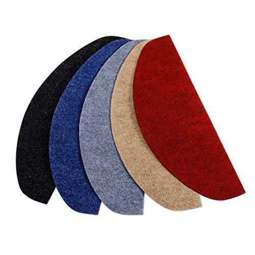 Copri Gradini per Scale - Tappeto per Scale Antiscivolo in Vari Colori Melange, Set da 15 - Rosso - 21x65 cm