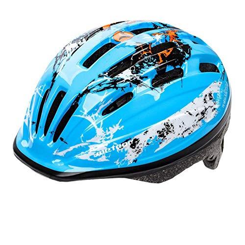 meteor® Kinderfahrradhelm Sicherer Fahrradhelm Kinder-Helm rollerhelm mädchen kinderfahrradhelm für Mountainbike Inliner skaterhelm BMX fahradhelm Scooter Jungen Bike Helmet (Blau, S)
