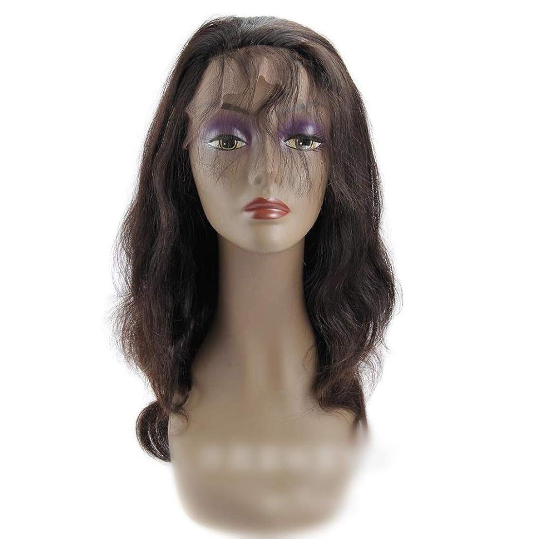 眠いです落ち着いて不定YESONEEP 360レース前頭かつらブラジルバージンヘアエクステンションボディウェーブ人間の髪の毛のかつら女性のかつら (色 : 黒, サイズ : 20 inch)
