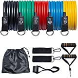 Fitheaven Resistance Bands Set, Exercise Bands for Physical Therapy, Home Workout, Yoga, Pilates with Carry Bag & eBook