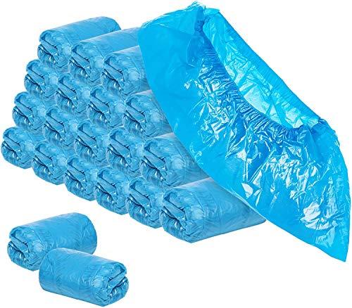 YIQI 100er Pack Schuhüberzüge aus Kunststoff - Einweghygienisch, rutschfest, langlebig, recycelbar, Schuhüberzug für Stiefel, Medizin, Bauwesen, Büros, Teppichschutz für Innenböden, Einheitsgröße