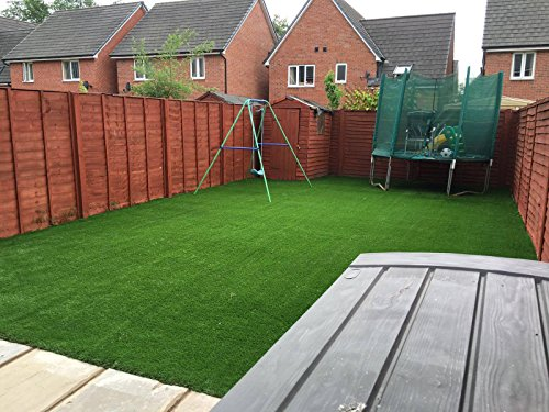 Prestige 35mm Pile Height Artificial Grass | Choose from 47 Sizes on this Listing | Cheap Natural & Realistic Looking Astro Garden Lawn | 4 x 1m of Cheap High Density Fake Turf
