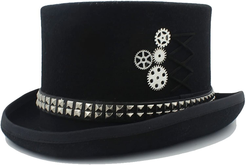 MXNET Fedora Steampunk hat with Rivet Gears top hat