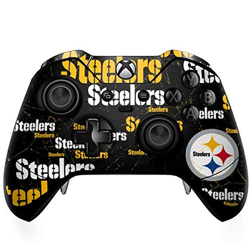 Skinit Decal Gaming Skin Compatible with Xbox One Elite Controller - Officially Licensed NFL Pittsburgh Steelers Black Blast Design