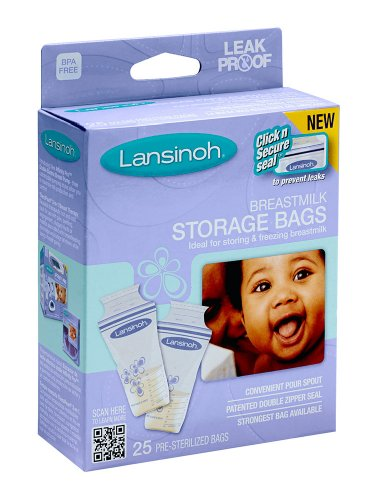 Best Bargain Lansinoh 20435 Breastmilk Storage Bags, 25-Count Boxes (Pack of 4)